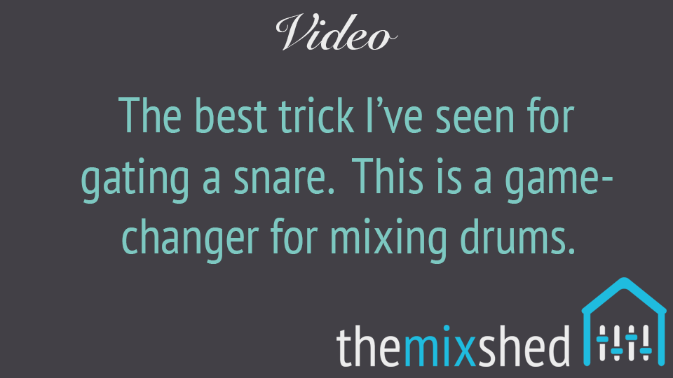 Video: The Best Method I've Seen to Reduce Cymbal Bleed From A Snare Mic